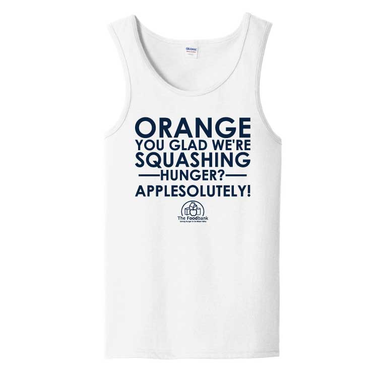 'Orange' Adult 100% Cotton Tank Top